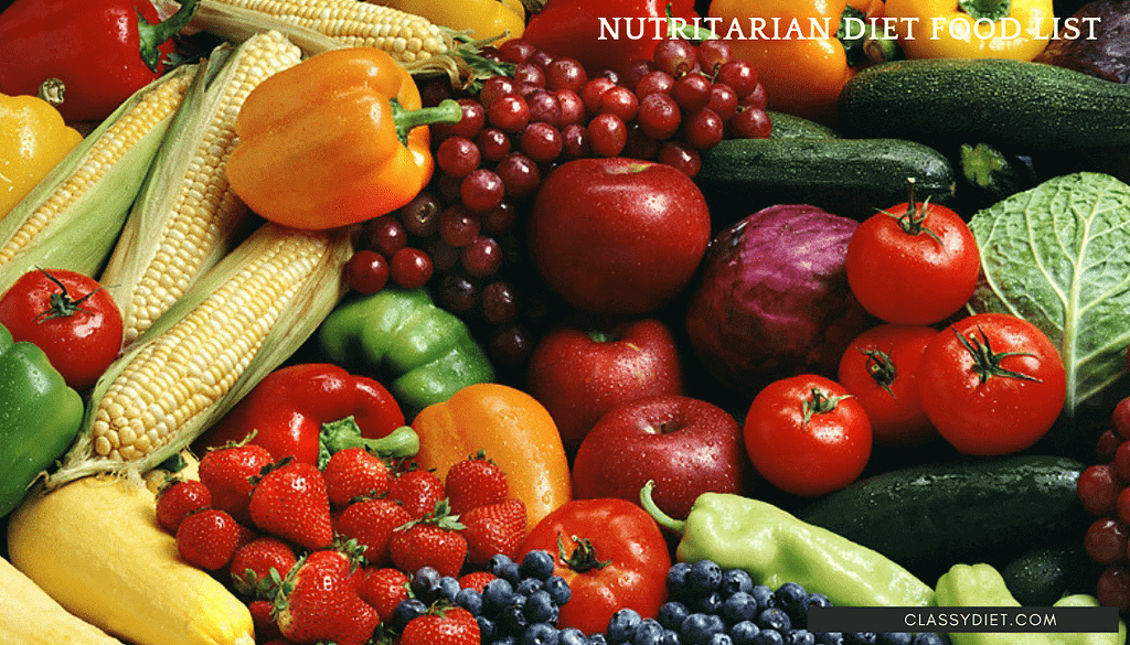 nutritarian diet food list