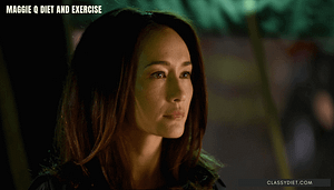 maggie q diet and exercise
